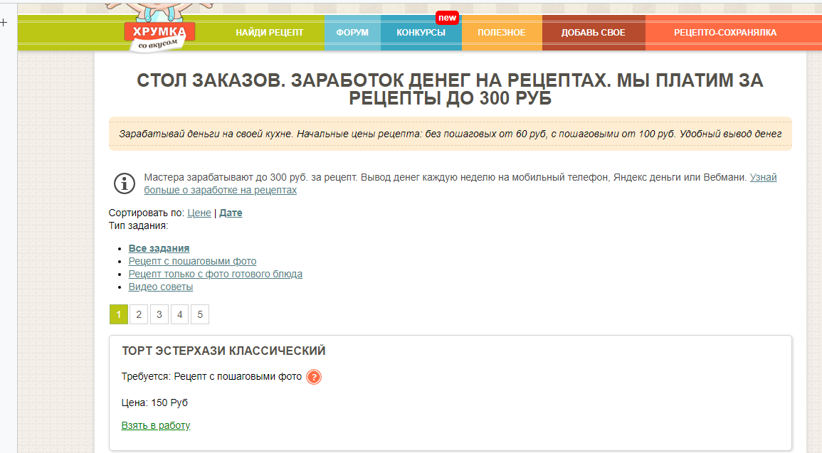 Как заработать на рецептах от 300 рублей в день? Как получать за рецепт от 60 до 150 рублей?
